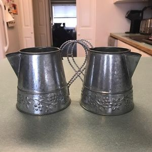 Set of Two Galvanized Pitchers